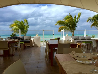 view of the Red Sea from Pure Restaurant (photo cred: Eric)