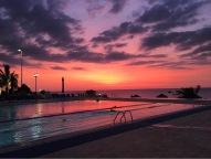 the pool at sunset (photo cred: Eric)